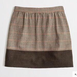 J. Crew Brown Plaid Skirt